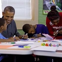 President Obama Serves with Jumpstart